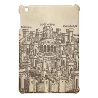 Jerusalén, grabar en madera medieval iPad mini protectores