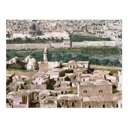 Jerusalén hacia 1900 tarjeta postal