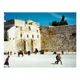 Jerusalén, la pared occidental postal