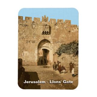 Jerusalén - la puerta de los leones iman rectangular