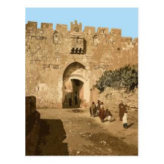 Jerusalén - la puerta de los leones postales