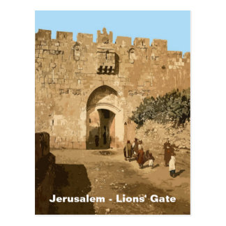 Jerusalén - la puerta de los leones tarjetas postales