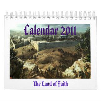 Jerusalén, la tierra de la fe calendario