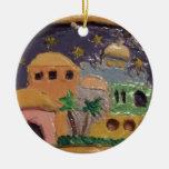 Jerusalén por el ornamento de la noche ornamentos de navidad