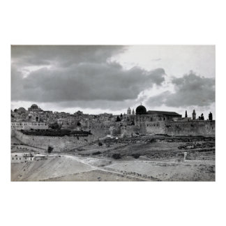 Jerusalén - pre 1940 póster