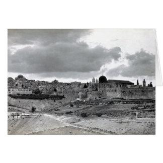 Jerusalén - pre 1940 tarjeta de felicitación