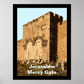Jerusalén - puerta de la misericordia póster