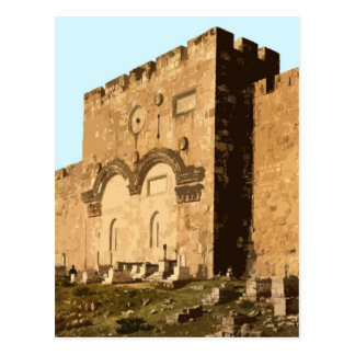 Jerusalén - puerta de la misericordia tarjeta postal