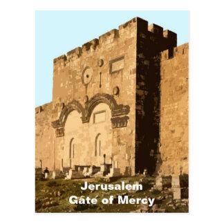 Jerusalén - puerta de la misericordia postal