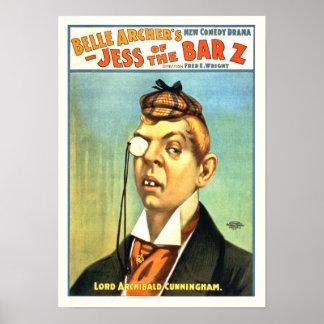 Jess del poster del vintage de la barra Z