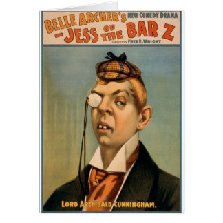 Jess of the Bar Z - Lord Archibald Cunningham Greeting Card