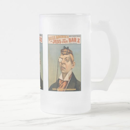 Jess of the Bar Z - Lord Archibald Cunningham Frosted Glass Beer Mug