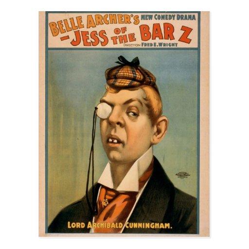 Jess of the Barz, 'Lord Archibald Cunningham' Postcard