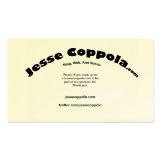 Jesse A.C. Plantillas De Tarjetas De Visita