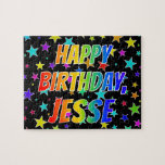 "[ Thumbnail: ""Jesse"" First Name, Fun ""Happy Birthday"" Jigsaw Puzzle ]"