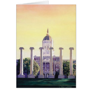 """Jesse Hall"" University of Missouri Watercolor Card"