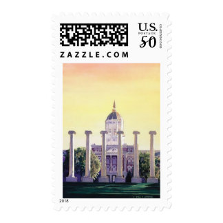 """Jesse Hall"" University of Missouri Watercolor Postage"