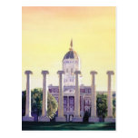 """Jesse Hall"" University of Missouri Watercolor Post Card"