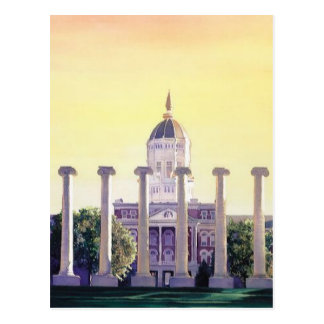 """Jesse Hall"" University of Missouri Watercolor Postcard"