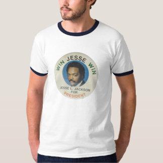 Jesse Jackson retro para presidente Ringer T-Shirt Playeras