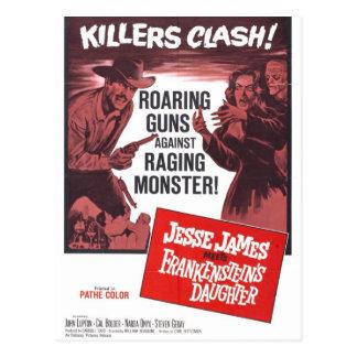Jesse James Meets Frankenstein Daughter Postcard