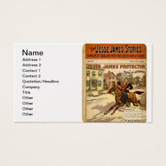 Jesse James Outlaw Bank Robber Comic Book Business Card
