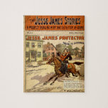 Jesse James Outlaw Bank Robber Comic Book Puzzle