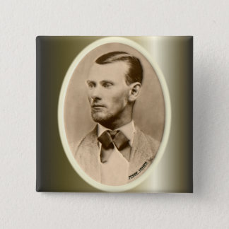 Jesse James Outlaw Bank Robber Pinback Button