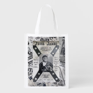 Jesse James Poster Reusable Grocery Bag