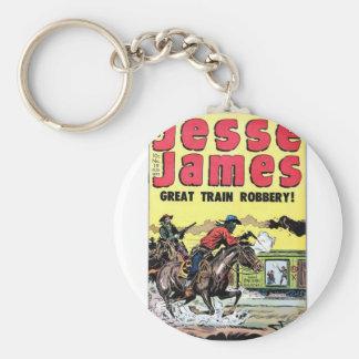 Jesse James Train Robbery Keychain