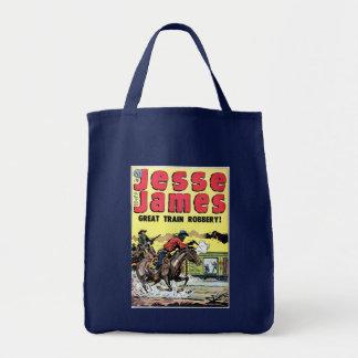 Jesse James Train Robbery Tote Bag