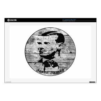 "Jesse James Vintage Photo 17"" Laptop Skin"