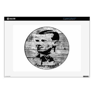 Jesse James Vintage Photo Laptop Decals