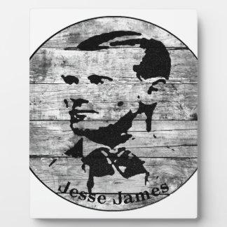 Jesse James Vintage Photo Plaque
