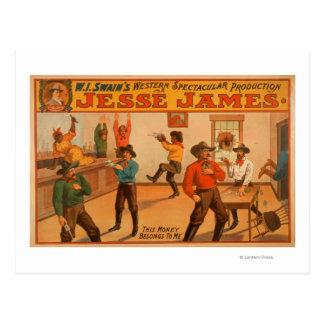 Jesse James Western Spectacular Production Postcard