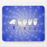 JESSE NAME SIGN ASL FINGERSPELLED MOUSE PAD