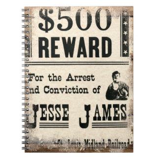 Jesse querido James Libretas