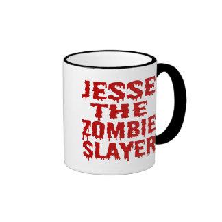 Jesse The Zombie Slayer Ringer Coffee Mug