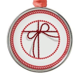 Jesse Tree Scarlet Cord Ornament #1 ornament