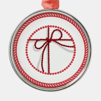 Jesse Tree Scarlet Cord Ornament #1