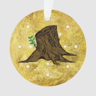Jesse Tree Sprouting Stump Ornament