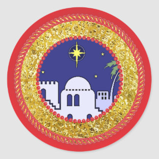 Jesse Tree Town of Bethlehem Sticker #2