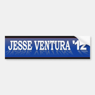 Jesse Ventura '12 Blue Reflection Bumper Sticker