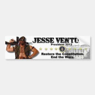 Jesse Ventura 2012 - Restaure la constitución Pegatina Para Auto