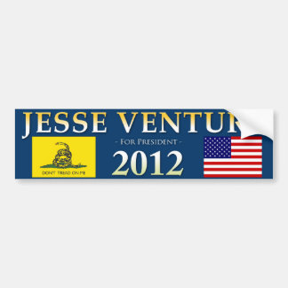 Jesse Ventura for President - Bumper Sticker, Navy Bumper Sticker