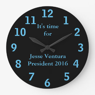 Jesse Ventura para el presidente 2016 Reloj Redondo Grande