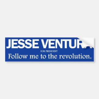 Jesse Ventura - sígame al parachoque de la revoluc Pegatina Para Auto