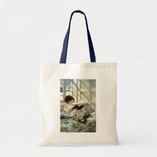 """Jesse Willcox Smith's """"Books in Winter"""" Tote Bag"""