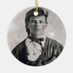 Jesse Woodson James (foto de b/w) Ornamentos De Navidad