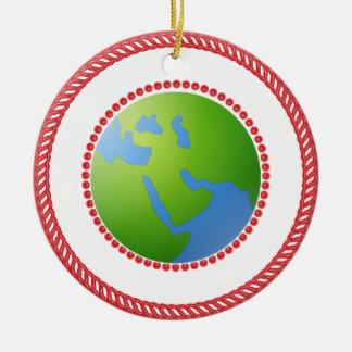 Jesse World Globe Ornament #2